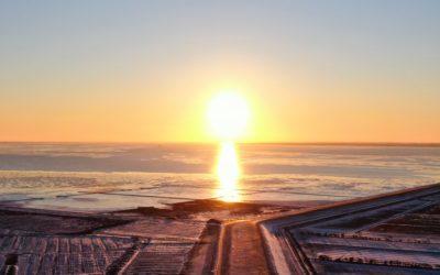 Winter Sundowner an der Nordsee